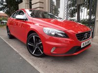USED 2014 14 VOLVO V40 2.0 D3 R-DESIGN 5dr 148 BHP 1 OWNER 17000 MILES £ 30 TAX STOP/START  AIR/CON BLUETOOTH PHONE *** FINANCE & PART EXCHANGE WELCOME ***