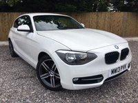 2013 BMW 1 SERIES 1.6 116I SPORT 3d 140 BHP £10695.00