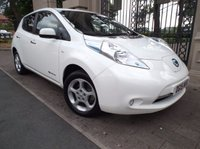 USED 2015 15 NISSAN LEAF 0.0 ACENTA 5d AUTO 109 BHP 1 OWNER FROM NEW £ 0 TAX SAT/NAV REVERSE CAM AIR/CON CRUISE CONTROL *** FINANCE & PART EXCHANGE WELCOME ***