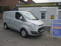 2014 FORD TRANSIT CUSTOM 2.2 270, 125 BHP, LIMITED, SHORT WHEEL BASE,TOP SPEC, FULL DEALER HISTORY, ALLOYS, AIR CON, HEATED SEATS, CRUISE, TOW BAR FITTED, EXCELLENT CONDITION £11500.00