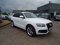 USED 2012 62 AUDI Q5 2.0 TDI QUATTRO S LINE PLUS 5d AUTO 170 BHP 1 OWNER VERY HIGH SPEC SERVICED AT AUDI AT 9476M 18649M 33767M 50172M  REAR ENTERTAINMENT 2 KEYS  SD CARD IN THE BEST COLOUR WHITE MUST BE SEEN TO BE APPRECIATED  FACTORY EXTRAS INCLUDE REAR EMTERTAIMNET SYSTEM £1050 DAB DIGITAL RADIO £305 BLACK ROOF RAILS GLOSS WJITE PAINT MATT BRUSHED ALLUMNIUM PACK SERVICE HISTORY