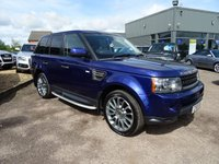 USED 2010 10 LAND ROVER RANGE ROVER SPORT 3.0 TDV6 HSE 5d AUTO 245 BHP HIGH SPEC 6 SERVICE STAMPS SERVICED AT 13518M 27623M 46068M 58623M 73026M 85533M FACTORY OPTIONS ARE DISEL PARTICULAR FILTER £450 PRICAY GLASS TO REAR OF B POST £395 VENEER ANIGRE GLOSS FINISH DOOR INSERTS CENTER CONSOLE HOCKEY STICKS COST NEW £51585
