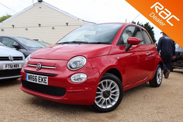 View our 2016 66 FIAT 500 1.2 POP STAR 3d 69 BHP