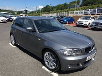 USED 2010 60 BMW 1 SERIES 2.0 118I M SPORT 5d 141 BHP Black half leather, only 38,000 miles from new