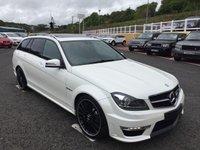 USED 2014 14 MERCEDES-BENZ C CLASS 6.2 C63 AMG 5d AUTO 457 BHP Beautiful specification with Diamond White Pearlescent Paintwork, COMAND, sunroof, heated seats, 19 inch++ Only 30,000 miles FSH