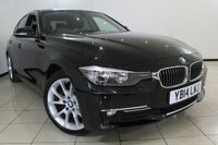 USED 2014 14 BMW 3 SERIES 2.0 320D LUXURY 4DR AUTOMATIC 184 BHP FULL BMW SERVICE HISTORY + 0% FINANCE AVAILABLE T&C'S APPLY + HEATED LEATHER SEATS + SAT NAVIGATION + PARKING SENSORS + BLUETOOTH + CRUISE CONTROL + 18 INCH ALLOY WHEELS