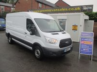 2016 FORD TRANSIT 2.2 TDCI, 350 125 BHP, 6 SPEED, LONG WHEEL BASE, SEMI HIGH ROOF, ONLY 30,000 MLS! FORD WARRANTY UNTIL 03/2019! BLUETOOTH, 12 MONTHS R.A.C WARRANTY! £13995.00