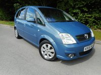 USED 2006 06 VAUXHALL MERIVA 1.4 DESIGN 16V TWINPORT 5d 90 BHP * Fitted with Twin Electric Sunroof, and Air conditioning*