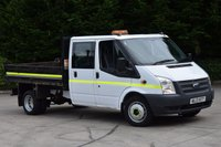 USED 2013 13 FORD TRANSIT 2.2 350 DRW 2d 125 BHP RWD LWB 6 SEATER D/CAB COMBI DIESEL MANUAL TIPPER ONE OWNER S/HISTORY SPARE KEY