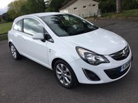 USED 2014 14 VAUXHALL CORSA 1.4 EXCITE AC 3d 98 BHP 1 OWNER FSH IN WHITE ALLOYS AIR CON