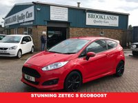 USED 2013 63 FORD FIESTA 1.0 ZETEC S 3d 124 BHP A Stunning Zetec S Finished in Red With Black Sports Seats,Air Con Black Alloy Wheels Zero Road Tax