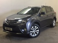 USED 2013 13 TOYOTA RAV4 2.2 D-4D INVINCIBLE 5d 150 BHP 4WD FACELIFT LEATHER ONE OWNER FSH 4WD. FACELIFT MODEL. STUNNING GREY MET WITH FULL BLACK LEATHER TRIM. ELECTRIC HEATED SEATS. CRUISE CONTROL. 18 INCH ALLOYS. COLOUR CODED TRIMS. PRIVACY GLASS. PARKING SENSORS. REVERSING CAMERA. ELECTRIC TAILGATE. BLUETOOTH PREP. CLIMATE CONTROL. R/CD PLAYER. MFSW. 6 SPEED MANUAL. MOT 05/18. ONE OWNER FROM NEW. FULL SERVICE HISTORY. PRISTINE CONDITION. FCA FINANCE APPROVED DEALER. TEL 01937 849492.