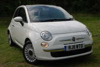 USED 2011 11 FIAT 500 1.2 LOUNGE [69 BHP] Start / Stop