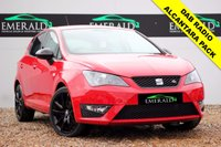 USED 2015 15 SEAT IBIZA 1.2 TSI FR BLACK 5d 104 BHP **£0 DEPOSIT FINANCE AVAILABLE**SECURE WITH A £99 FULLY REFUNDABLE DEPOSIT** SATELLITE NAVIGATION, HALF LEATHER & HALF ALCANTARA UPHOLSTERY, PRIVACY GLASS, DAB RADIO, CRUISE CONTROL, AUX FULL SERVICE HISTORY