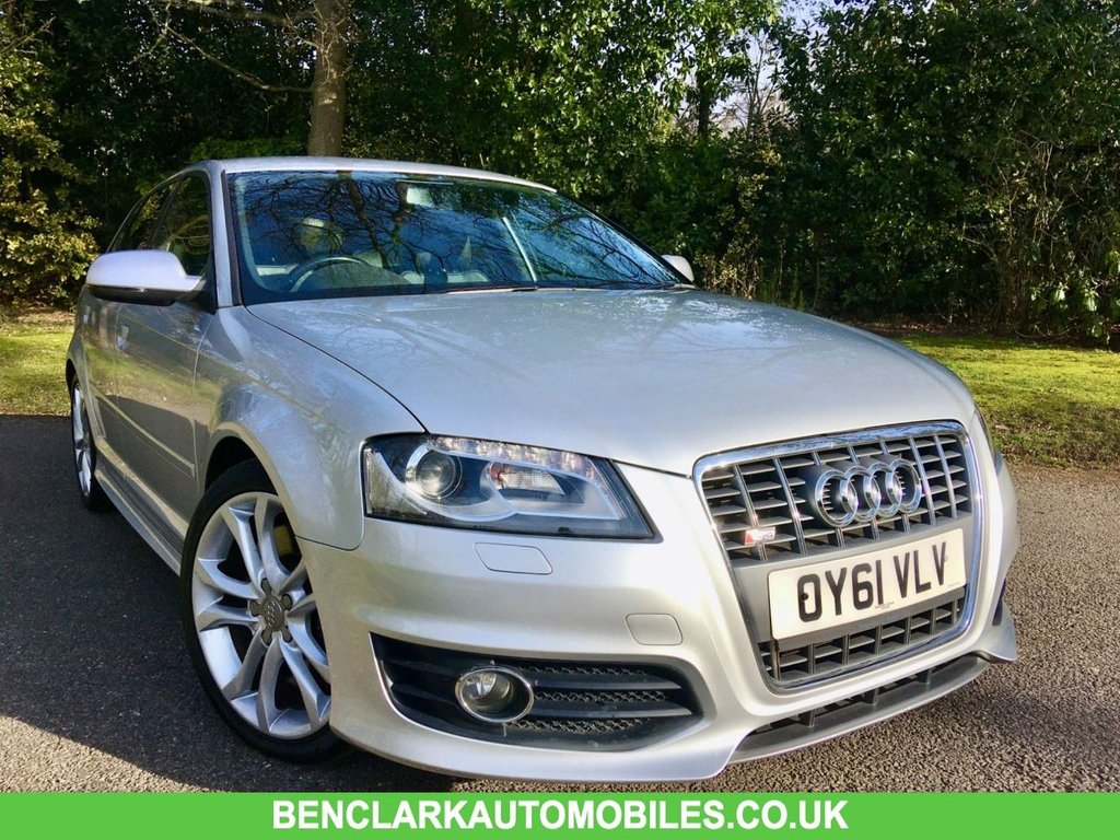 USED 2011 61 AUDI S3 2.0 TFSI Sportback S Tronic Quattro DOCTOR OWNED SINCE 2015/GREAT SERVICE HISTORY X6 STAMPS DOCTOR OWNED LOCALY SINCE 2015 GREAT SERVICE HISTORY X6 STAMPS--LAST SERVICED @62,536 MILES//FULL BLACK LEATHER/SATNAV/REAR PARK ASSIST