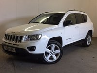 USED 2012 62 JEEP COMPASS 2.4 LIMITED 5d AUTO 168 BHP 4WD LEATHER PRIVACY FACELIFT MODEL 4WD. STUNNING WHITE WITH FULL BLACK LEATHER TRIM. ELECTRIC HEATED SEATS. CRUISE CONTROL. 18 INCH ALLOYS. COLOUR CODED TRIMS. PRIVACY GLASS. BLUETOOTH PREP. CLIMATE CONTROL. TRIP COMPUTER. R/CD PLAYER. MFSW. MOT 02/18. ONE PREV OWNER. FULL SERVICE HISTORY. PRISTINE CONDITION. FCA FINANCE APPROVED DEALER. TEL 01937 849492.