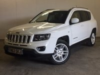 USED 2013 63 JEEP COMPASS 2.4 LIMITED 5d AUTO 168 BHP 4WD LEATHER PRIVACY FACELIFT MODEL 4WD. STUNNING WHITE WITH FULL BLACK LEATHER TRIM. ELECTRIC HEATED SEATS. CRUISE CONTROL. 18 INCH ALLOYS. COLOUR CODED TRIMS. PRIVACY GLASS. REVERSING CAMERA. BLUETOOTH PREP. MULTIMEDIA SCREEN. CLIMATE CONTROL. TRIP COMPUTER. R/CD PLAYER. MFSW. MOT 05/18. ONE PREV OWNER. FULL SERVICE HISTORY. PRISTINE CONDITION. FCA FINANCE APPROVED DEALER. TEL 01937 849492.