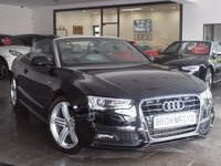 USED 2012 62 AUDI A5 CABRIOLET 2.0 TDI S LINE S/S 2d 177 BHP +++LTHER+SAT NAV+FASH+++