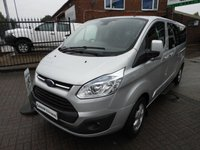2015 FORD TOURNEO CUSTOM 2.2 300 LIMITED TDCI 9 SEAT MINIBUS 125 BHP WITH FSH CHOICE IN STOCK £15995.00
