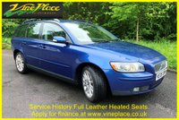 USED 2006 06 VOLVO V50 2.0 D S 5d 135 BHP +HEATED LEATHER+HISTORY+ELECTRIC MEMORY SEATS+