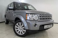 USED 2012 62 LAND ROVER DISCOVERY 3.0 4 SDV6 HSE 5DR AUTOMATIC 255 BHP FULL SERVICE HISTORY + 0% FINANCE AVAILABLE T&C'S APPLY + HEATED LEATHER SEATS + 7 SEATS + SAT NAVIGATION + TRIPLE SUNROOF + REVERSE CAMERA