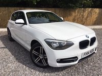 2014 BMW 1 SERIES 2.0 116D SPORT 5d AUTO 114 BHP £13495.00