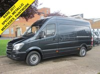 USED 2014 14 MERCEDES-BENZ SPRINTER 2.1 313CDI MWB HIGH ROOF. 1 OWNER. FACELIFT SHAPE. RARE COLOUR. 5 SERVICES. LOW RATE FINANCE. PX WELCOME.