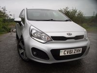 USED 2012 61 KIA RIO 1.4 CRDI 3 ECODYNAMICS 5d 88 BHP ** £20 ROAD TAX**GREAT MPG **LOVELY CONDITION**
