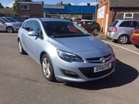 USED 2014 14 VAUXHALL ASTRA 1.6 SRI 5d AUTO 115 BHP 6835 MILES ONLY!! AUTOMATIC WITH PARKING SENSORS; 17INCH ALLOY WHEELS; PRIVACY GLASS; FULL VAUXHALL SERVICE HISTORY..ONLY 6835 MILES FROM NEW!!