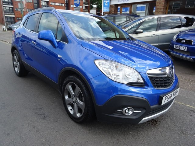 2014 14 VAUXHALL MOKKA 1.7 SE CDTI S/S 5d 128 BHP BORACAY BLUE/BLACK LEATHER.