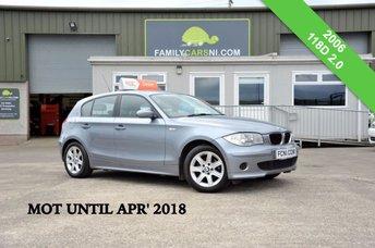 2006 BMW 1 SERIES 2.0 118D ES 5d 121 BHP *MOT UNTIL APR' 18* £3250.00