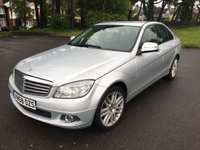 USED 2008 58 MERCEDES-BENZ C CLASS 2.1 C220 CDI ELEGANCE 4d AUTO 168 BHP GOOD SPEC LOCAL CAR WITH FULL BLACK LEATHER AND FSH