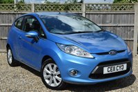 USED 2011 11 FORD FIESTA 1.2 ZETEC 3d 81 BHP Free 12  month warranty