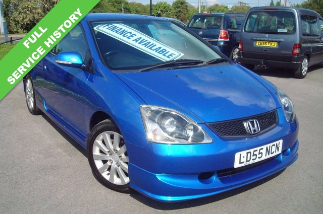 2005 55 HONDA CIVIC 1.6 SPORT 3d 110 BHP EP3 VERY RARE LOW MILEAGE FSH