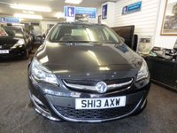 """USED 2013 13 VAUXHALL ASTRA 1.6 SRI 5d 113 BHP Super example in diamond black metallic-ONLY 34,000 miles with service history-just serviced too -good spec with 17""""alloys,rear top spoiler,cruise,air conditioning-excellent value"""