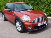 2011 MINI HATCH ONE 1.6 ONE 3d 98 BHP £5795.00