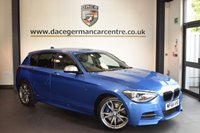 USED 2014 64 BMW 1 SERIES 3.0 M135I 5DR 316 BHP + FULL BLACK LEATHER INTERIOR + FULL BMW SERVICE HISTORY + 1 OWNER FROM NEW + BLUETOOTH + XENON LIGHTS + SPORT SEATS + BMW SERVICE HISTORY + DAB RADIO + 18 INCH ALLOY WHEELS +