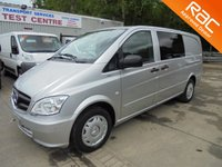 2012 MERCEDES-BENZ VITO 6 Seater LWB 2.1 113 CDI BLUEEFFICIENCY 136 BHP Dualiner £9995.00