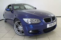 USED 2011 11 BMW 3 SERIES 2.0 320D M SPORT 2DR AUTOMATIC 181 BHP FULL SERVICE HISTORY + HEATED LEATHER SEATS + 0% FINANCE AVAILABLE T&C'S APPLY + CLIMATE CONTROL + PARKING SENSOR + BLUETOOTH + MULTI FUNCTION WHEEL + 19 INCH ALLOY WHEELS