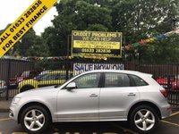 USED 2014 64 AUDI Q5 2.0 TDI QUATTRO S LINE S/S 5d 175 BHP STUNNING FLORET SILVER METALLIC, FULL BLACK NAPPA BLACK LEATHER, ALLOY WHEELS, AIR CONDITIONING, CD, CRUISE CONTROL, DAB RADIO, BLUE TOOTH, 1 OWNER, LOW MILEAGE, SERVICE HISTORY