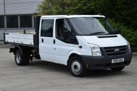 USED 2011 61 FORD TRANSIT 2.4 350 DRW 4d 100 BHP LWB  DOUBLE CAB RWD TWIN WHEEL COMBI TIPPER ONE OWNER FULL/SH  SIX SEATER