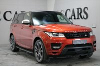 USED 2013 63 LAND ROVER RANGE ROVER SPORT 3.0 SDV6 AUTOBIOGRAPHY DYNAMIC 5d 288 BHP AUTOBIOGRAPHY PANORAMIC ROOF PRE-PAID SERVICE PLAN FOR FIVE YEARS OR 62.5 MILES EBONY HEATED LEATHER MEM SEATS WITH CIRRUS LEATHER TO DASH AND DOOR CARDS 22 INCH ALLOY WHEELS SIDE STEPS BLACK CONTRAST PAN ROOF POWER TAILGATE