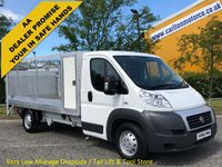 USED 2013 63 FIAT DUCATO 35 Maxi Dropside+Tail-Lift Toolbox,Caged Sides Low mileage 22k