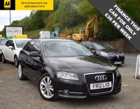 USED 2012 12 AUDI A3 1.6 TDI SPORT 5d 103 BHP LOVELY AUDI A3 IN BLACK WITH FRONT CENTRE ARM REST, CRUISE CONTROL, AUTO LIGHTS/WIPERS, REAR PARKING SENSORS, FULL AUDO SERVICE HISTORY!