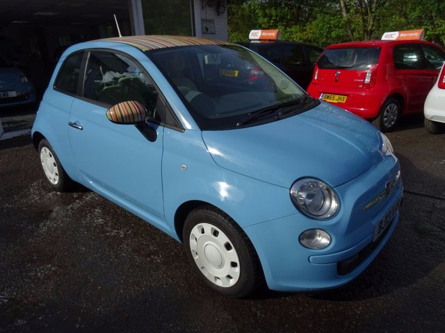 2013 13 FIAT 500 0.9 TWINAIR COLOUR THERAPY *BUNNY STRIPE EDITION* 3d 85 BHP