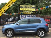 USED 2013 63 VOLKSWAGEN TIGUAN 2.0 SE TDI BLUEMOTION TECHNOLOGY 5d 138 BHP STUNNING METALLIC BLUE, PARK ASSIST/PARKING SENSORS FRONT, BLUETOOTH, STACK CD, AIRCON, ALLOY WHEELS, 1 OWNER, VW SERVICE HISTORY, LOW MILEAGE