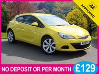 "USED 2013 13 VAUXHALL ASTRA 1.4 GTC SPORT S/S 3dr 118 BHP 18"" ALLOYS DAB STOP/START"