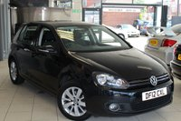 USED 2012 12 VOLKSWAGEN GOLF 2.0 MATCH TDI DSG 5d AUTO 138 BHP FULL VW SERVICE HISTORY + BLUETOOTH + FRONT/REAR PARKING SENSORS + 16 INCH ALLOYS + RAIN SENSORS + DAB RADIO + TOUCH SCREEN MONITOR + CRUISE CONTROL