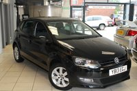 USED 2013 13 VOLKSWAGEN POLO 1.4 MATCH EDITION 5d 83 BHP VW SERVICE HISTORY + BLUETOOTH + DAB RADIO + DRL'S + 15 INCH ALLOYS + ELECTRIC WINDOWS + ELECTRIC/HEATED MIRRORS