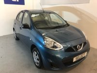 USED 2014 14 NISSAN MICRA 1.2 VISIA 5d 79 BHP Lovely LOW MILEAGE example in Carribean Blue Metallic with smart grey interior trim,LOW INSURE RATING,LOW £30 Year Road Tax,electric pack,power steering,remote central door locking,AUX input-1 Lady Owner -ONLY 24,000 miles-Just Serviced ready to go -super value for only
